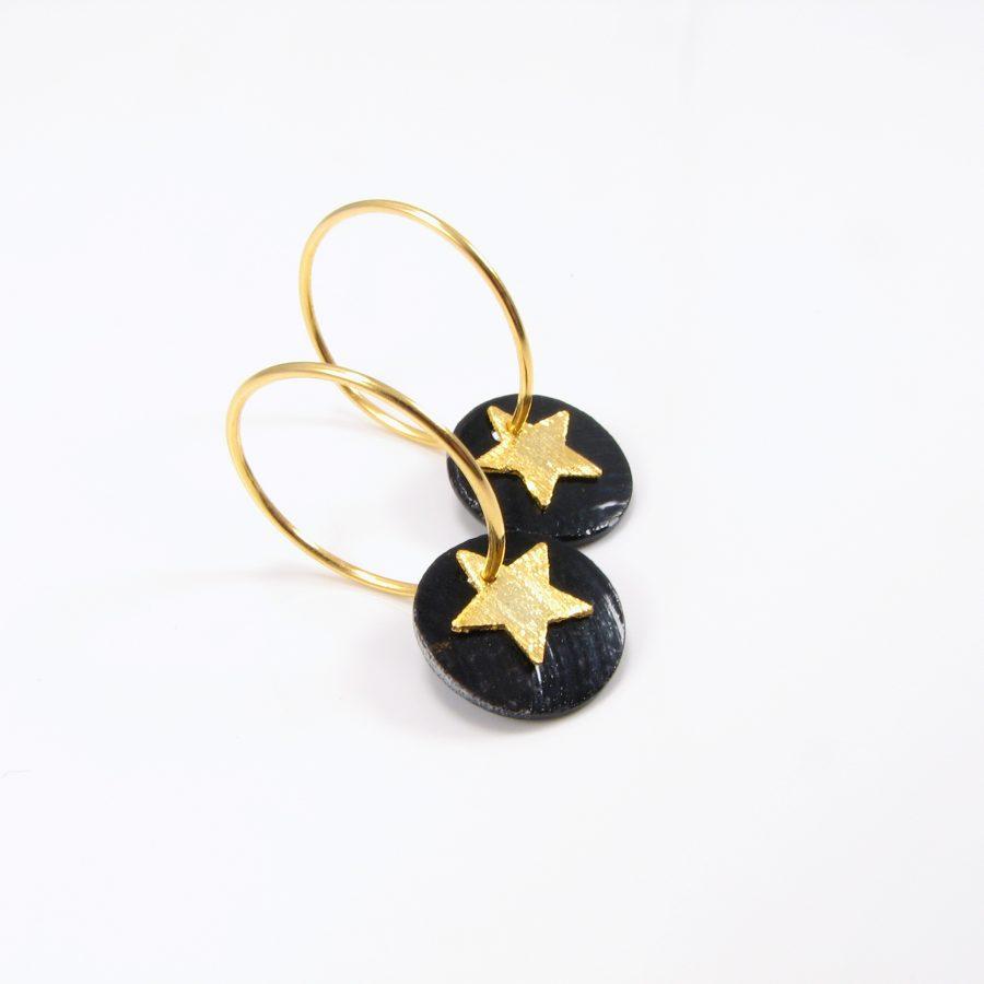 Guldcreol med mønt og stjerne