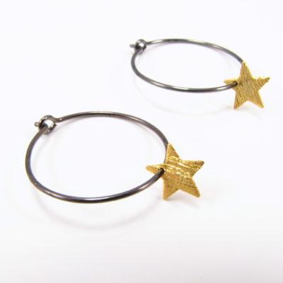Oxideret sterling med guldstjerne