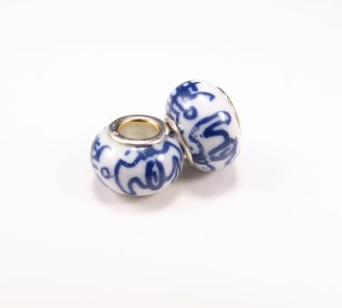 Keramikperle - mørkeblå