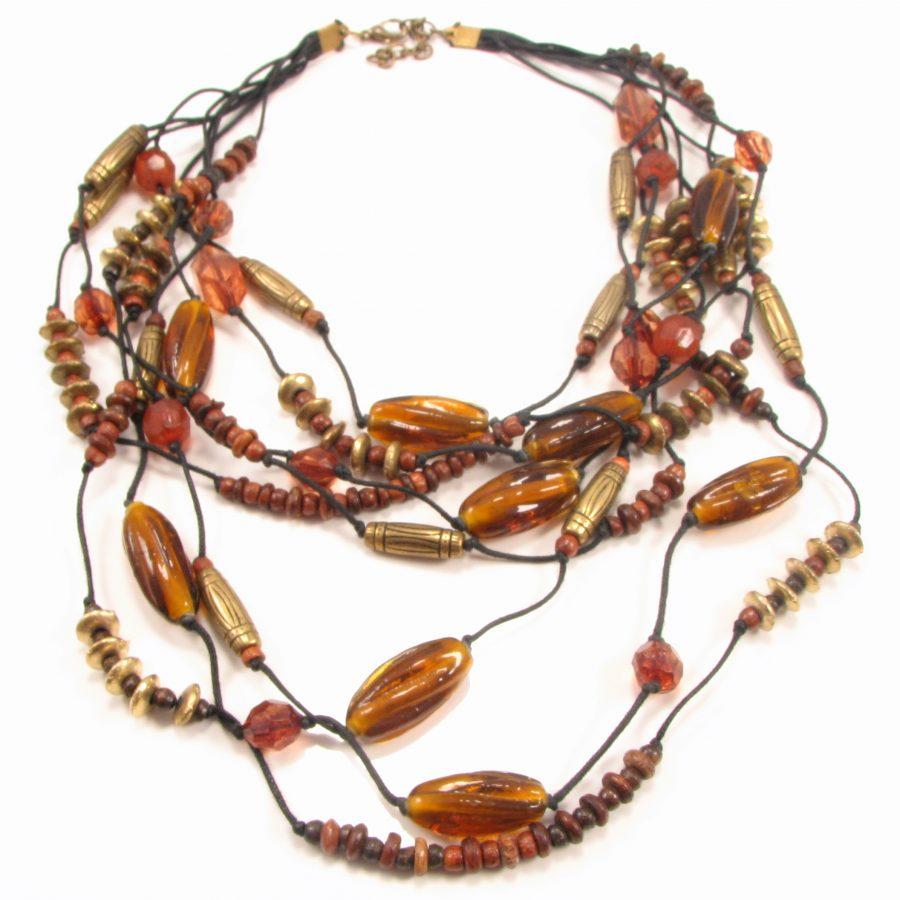 Unika halskæde med 8 kæder