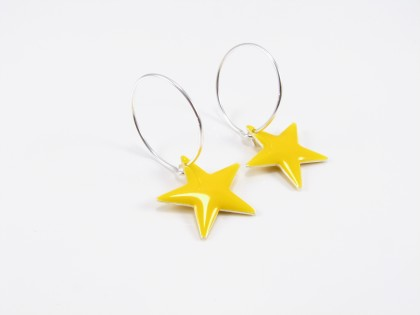 Gul emalje stjerne på sterling creol