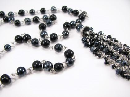 Lang sort unika halskæde