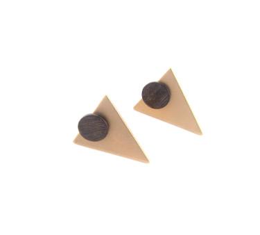 Oxideret sterling stick med forgyldt trekant