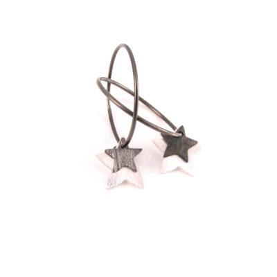 Stjerner på oxideret sterling creol