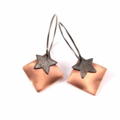 Oxideret sterling creol med kobber og stjerne