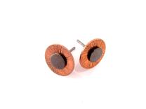 Oxideret ørestik med kobber mønt