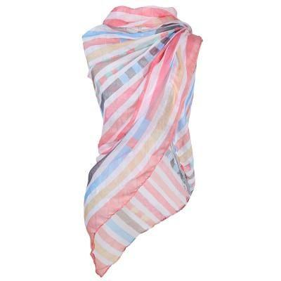 Tørklæde i rosa nuancer