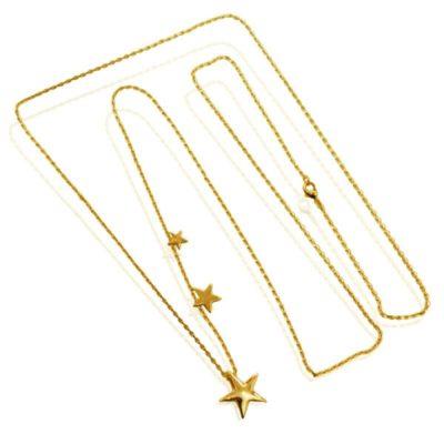 Halskæde med 3 smukke stjerner
