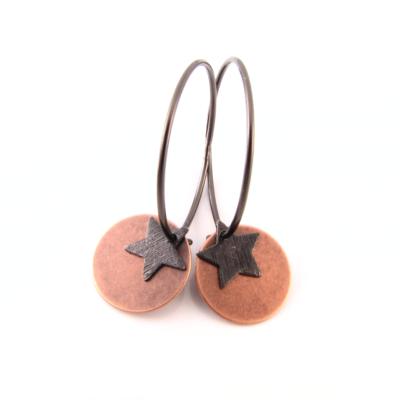 EA333 Oxideret creol med kobbermønt stjerne