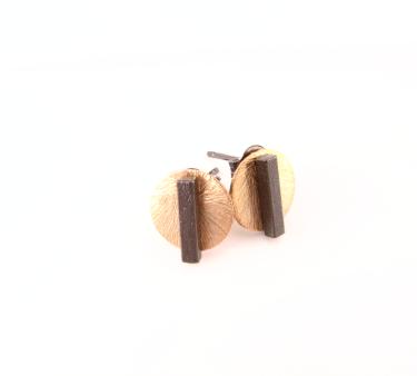 EA336 Rosaforgyldt mønt med oxideret sølv