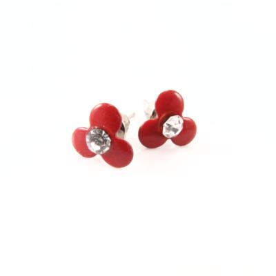 EA174_Emalje blomst rød