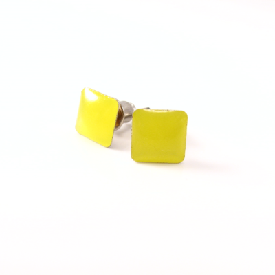 EA176_Firkantet resin gul