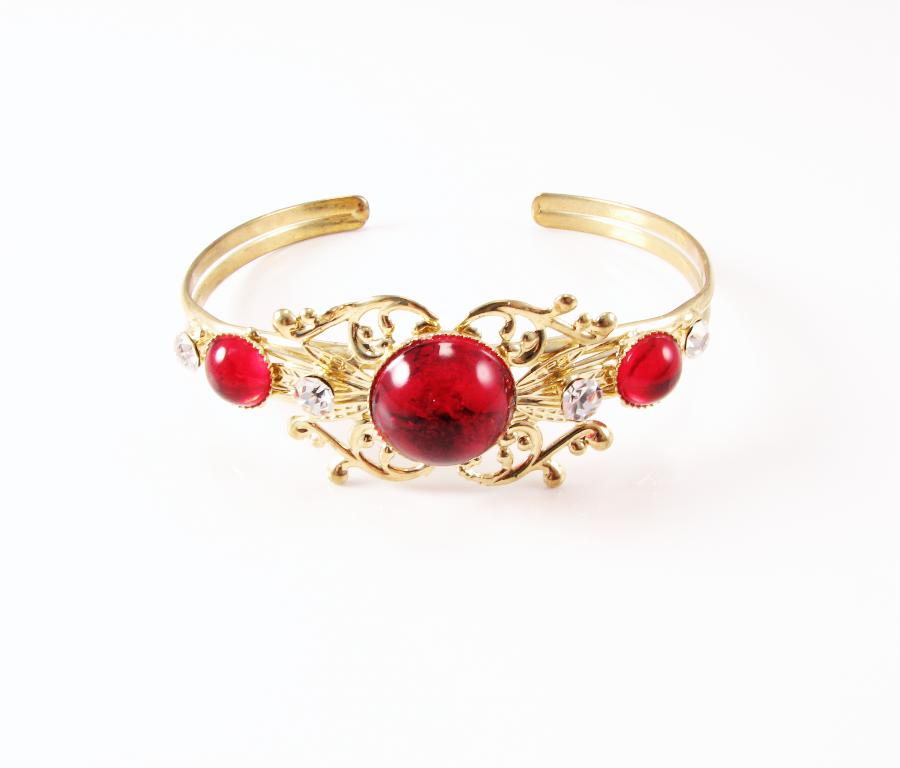 PR156 Indisk inspireret guldbelagt armbånd